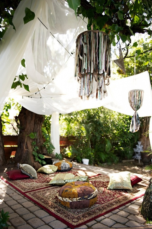 Bohemian Backyard Party : Bohemian Backyard Oasis  Spitfiregirl Design