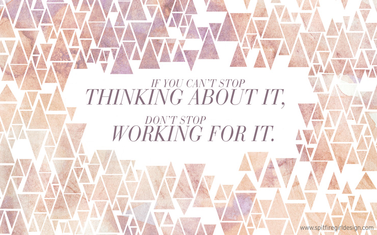 Girly Inspirational Desktop Wallpaper: Thinking About It