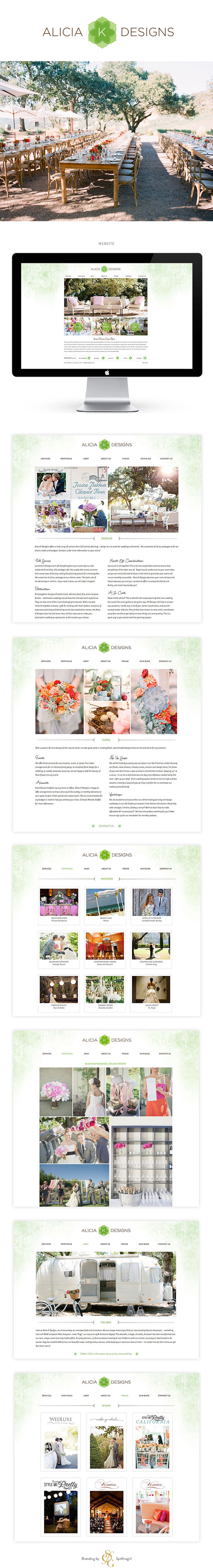 Branding for wedding designer Alicia K Designs